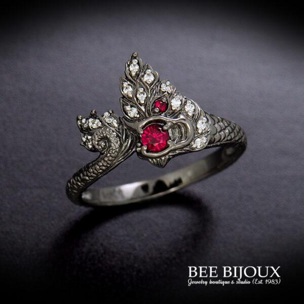 แหวนพญานาคทับทิม