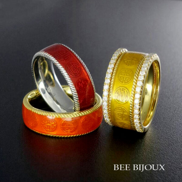 แหวน ฮกลกซิ่ว ลงยาสี